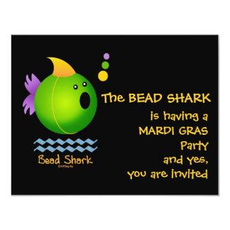 Bead Shark - Green 4.25x5.5 Paper Invitation Card