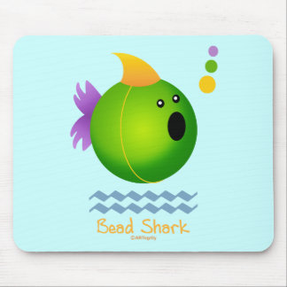 Bead Shark - Green Mouse Pad