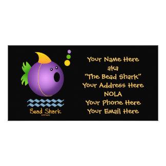 Bead Shark - Purple Card