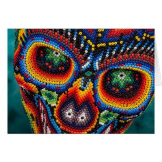 Bead Skull Eyes Card