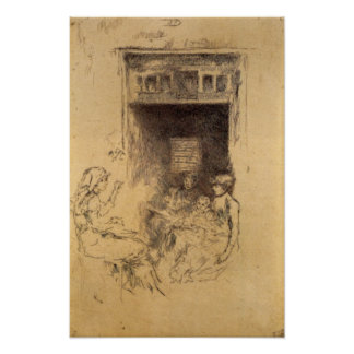 Bead Stringers by James Abbott McNeill Whistler Posters