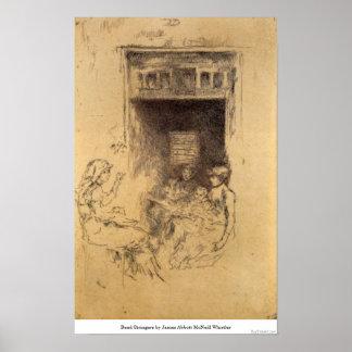 Bead Stringers by James Abbott McNeill Whistler Print