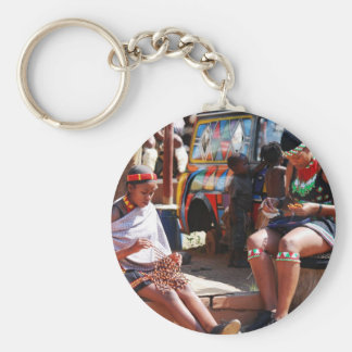 Bead Workers Basic Round Button Keychain