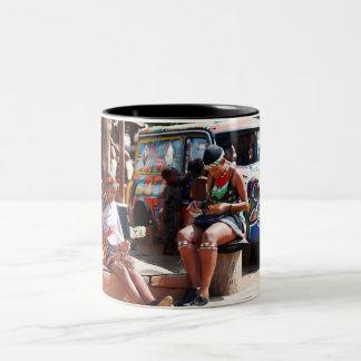 Bead Workers Two-Tone Coffee Mug