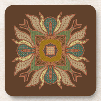 Beaded Abstract Four Sided Symbol Coaster