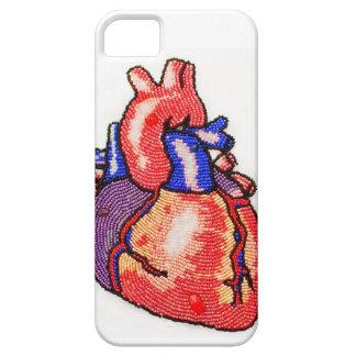 Beaded Anatomical Human Heart Print iPhone Case