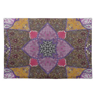Beaded  and Sequined Cross Placemat