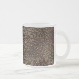 Beaded Arrangement Frosted Glass Coffee Mug