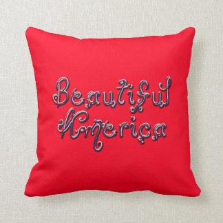 Beaded Beautiful America-Square Pillow