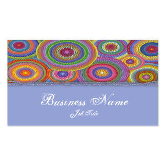 Beaded colors elegant business card