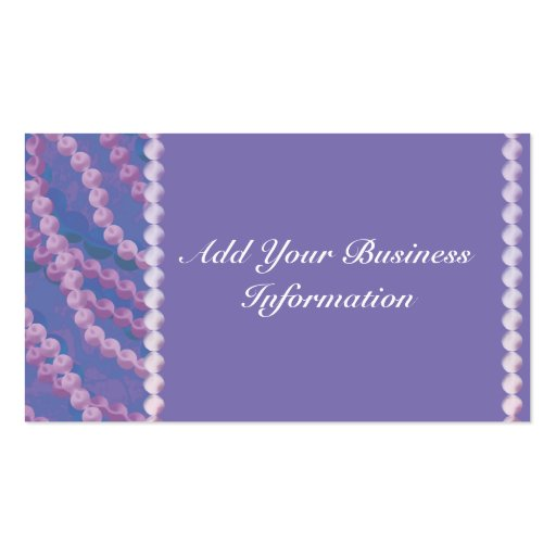 Beaded Elegance Business Card Template