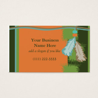 Beaded Feathers Business Card