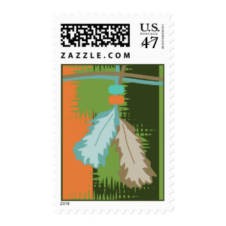 Beaded Feathers Postage