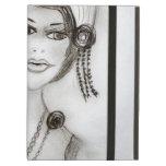 Beaded Flapper Girl iPad Cover