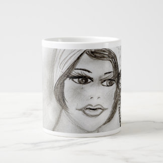 Beaded Flapper Girl Large Coffee Mug