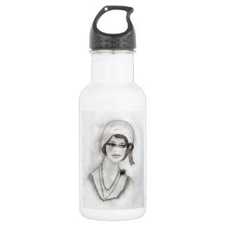 Beaded Flapper Girl Water Bottle