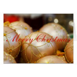 Beaded Flower Gold Ball Ornaments Greeting Card