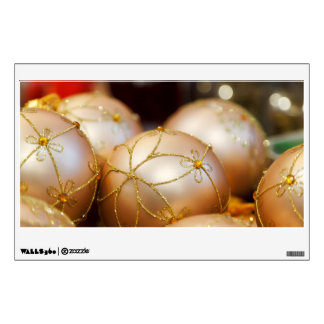 Beaded Flower Gold Ball Ornaments Wall Sticker