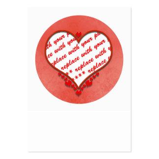 Beaded Heart Photo Frame Business Card