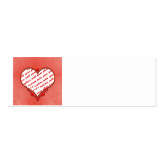 Beaded Heart Photo Frame Business Card Templates