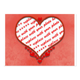 Beaded Heart Photo Frame Business Cards