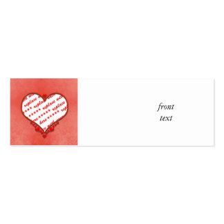 Beaded Heart Photo Frame Business Card Template