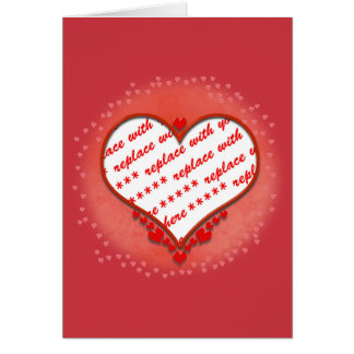 Beaded Heart Photo Frame Greeting Card