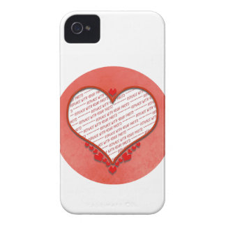 Beaded Heart Photo Frame iPhone 4 Case-Mate Case