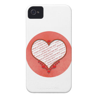 Beaded Heart Photo Frame iPhone 4 Covers