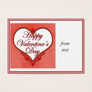 Beaded Heart Valentine Business Card