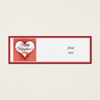 Beaded Heart Valentine Mini Business Card
