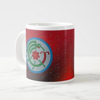 Beaded Hummingbird Giant Coffee Mug