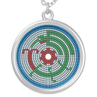 Beaded Hummingbird Round Pendant Necklace