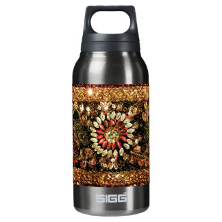 Beaded Indian Saree Photo Insulated Water Bottle