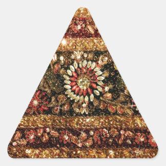 Beaded Indian Saree Photo Triangle Sticker