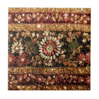 Beaded Indian Saree Photo Tile