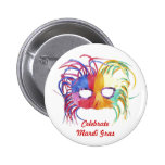 Beaded Mask - Pinback Buttons
