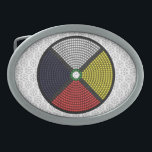 "Beaded Medicine Wheel Belt Buckle<br><div class=""desc"">Beaded Medicine Wheel</div>"