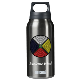 Beaded Medicine Wheel Insulated Water Bottle