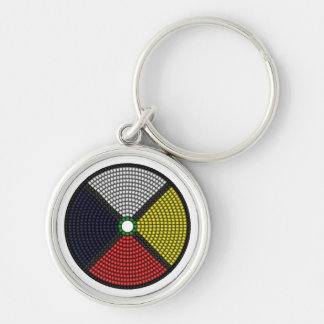 Beaded Medicine Wheel Keychain