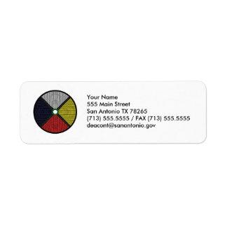 Beaded Medicine Wheel Label