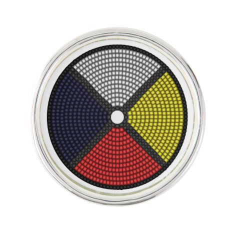 Beaded Medicine Wheel Pin