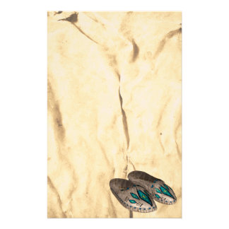 Beaded Moccasins Native American  Stationery