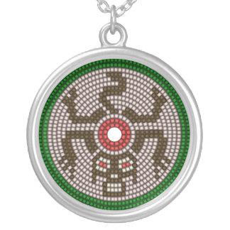Beaded Monkey Round Pendant Necklace
