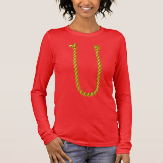 Beaded Necklace Long Sleeve T-Shirt