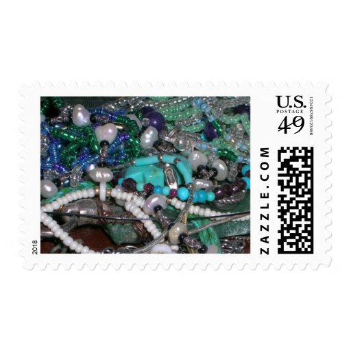 Beaded Necklaces Postage Stamp