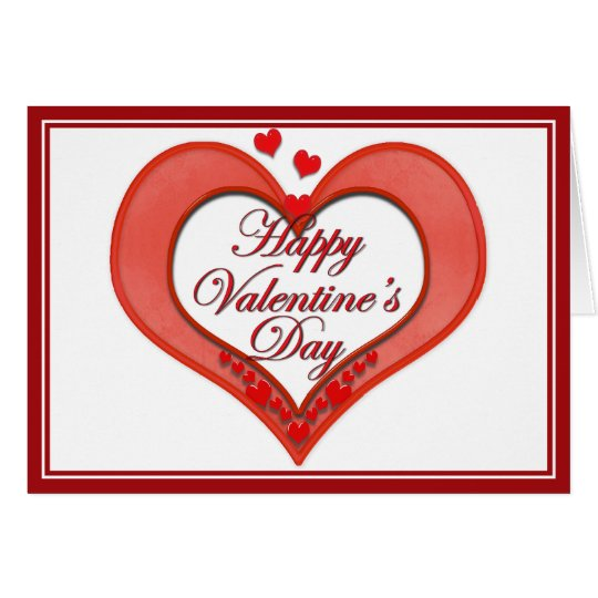Beaded Red Heart Valentine Card