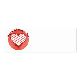 Beaded Valentine's Day Heart Photo Frame Business Card