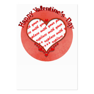 Beaded Valentine's Day Heart Photo Frame Business Card Templates