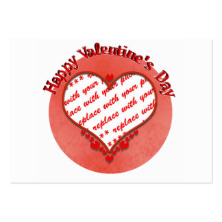 Beaded Valentine's Day Heart Photo Frame Business Card Template